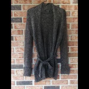 Express Grey Wool Mohair Blend Cardigan M